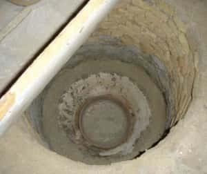 پر شدن چاه فاضلاب
